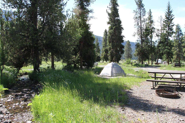Pebble Creek Campground site #16..Pebble Creek Campground site #16