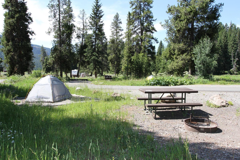 Pebble Creek Campground site #16...Pebble Creek Campground site #16