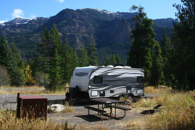 Pebble Creek Campground site #17.Pebble Creek Campground site #17