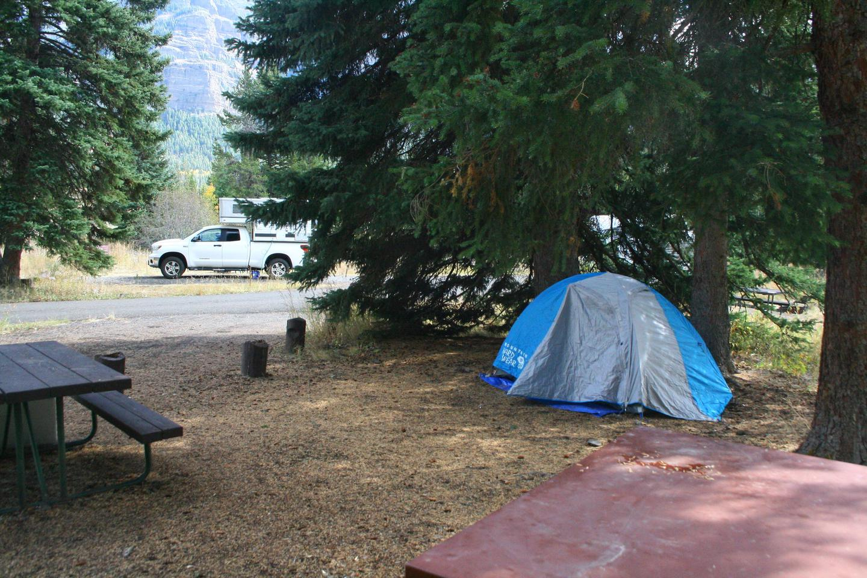 Pebble Creek Campground site #19.Pebble Creek Campground site #19