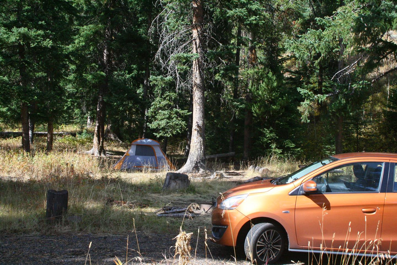 Pebble Creek Campground site #20.Pebble Creek Campground site #20