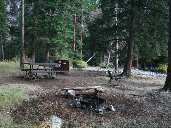 Pebble Creek Campground site #24