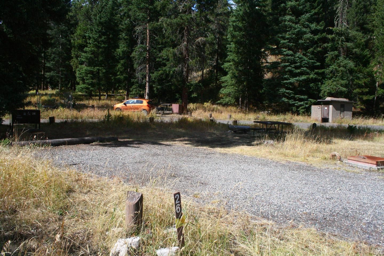 Pebble Creek Campground site #26.Pebble Creek Campground site #26