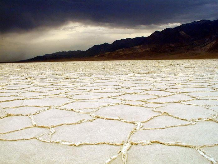 Storm over the Salt FlatsBadwater Basin is the lowest point in North America at -282 feet.
