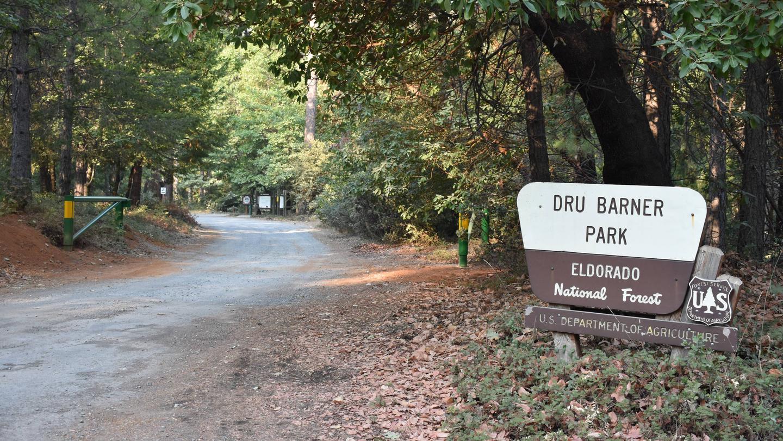 EntranceFront gate of Dru Barner Campground.