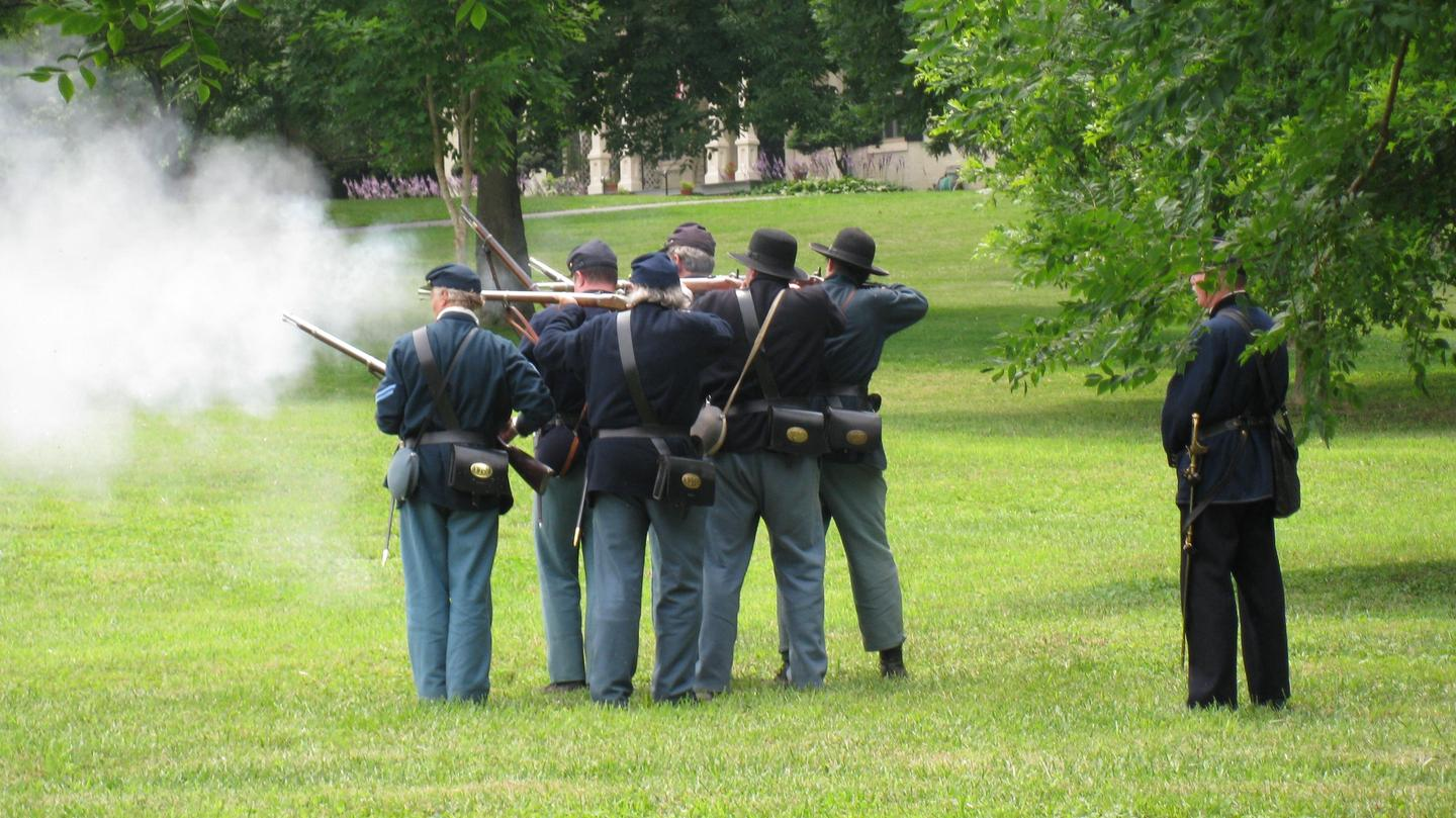 History Comes Alive at MonocacyLiving history volunteers bring the past to the present through demonstrating small arms firing at Monocacy.