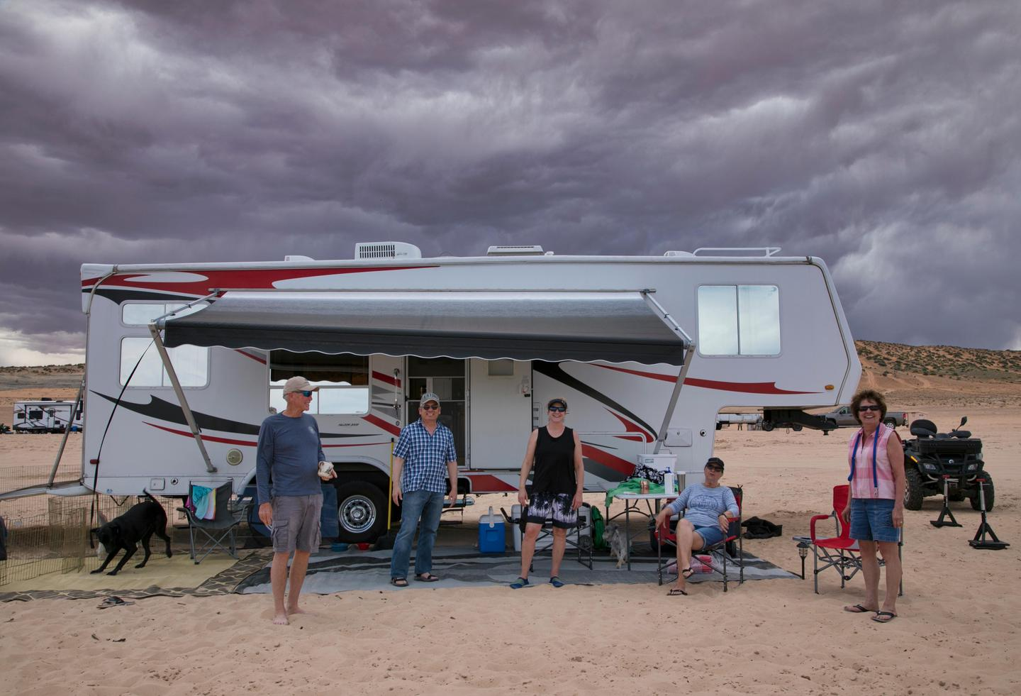 Lone Rock Beach Primitive Camping - Recreational VehicleThe whole family can enjoy the beach camping at Lone Rock.
