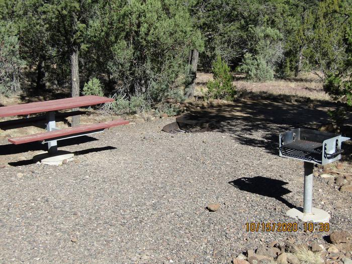 Grill table, fire pitGrill, table , and fire pit at site.