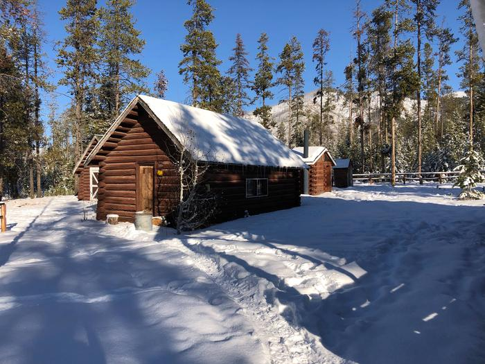 STOLLE MEADOWS woodshed and restroom