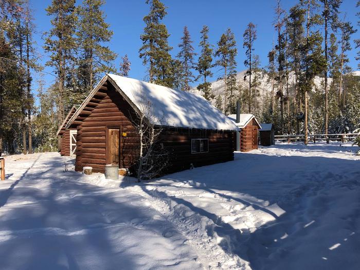 Woodshed and restroom