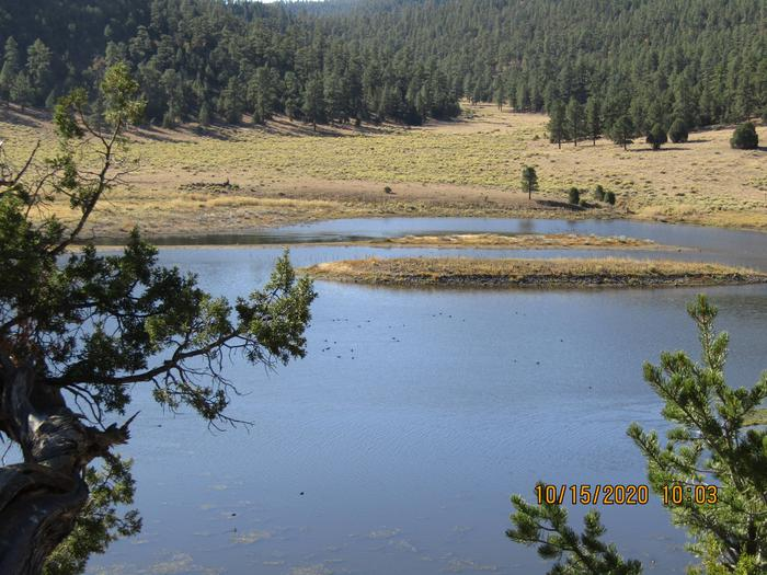 Great view of the Quemado LakeEasy access to the lake