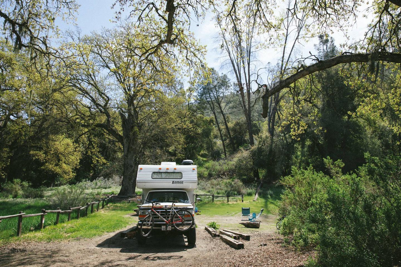 Truck Camper at Pinnacles CampgroundCampsite at Pinnacles