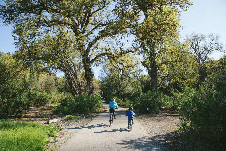Biking through the campgroundBiking at Pinnacles Campground