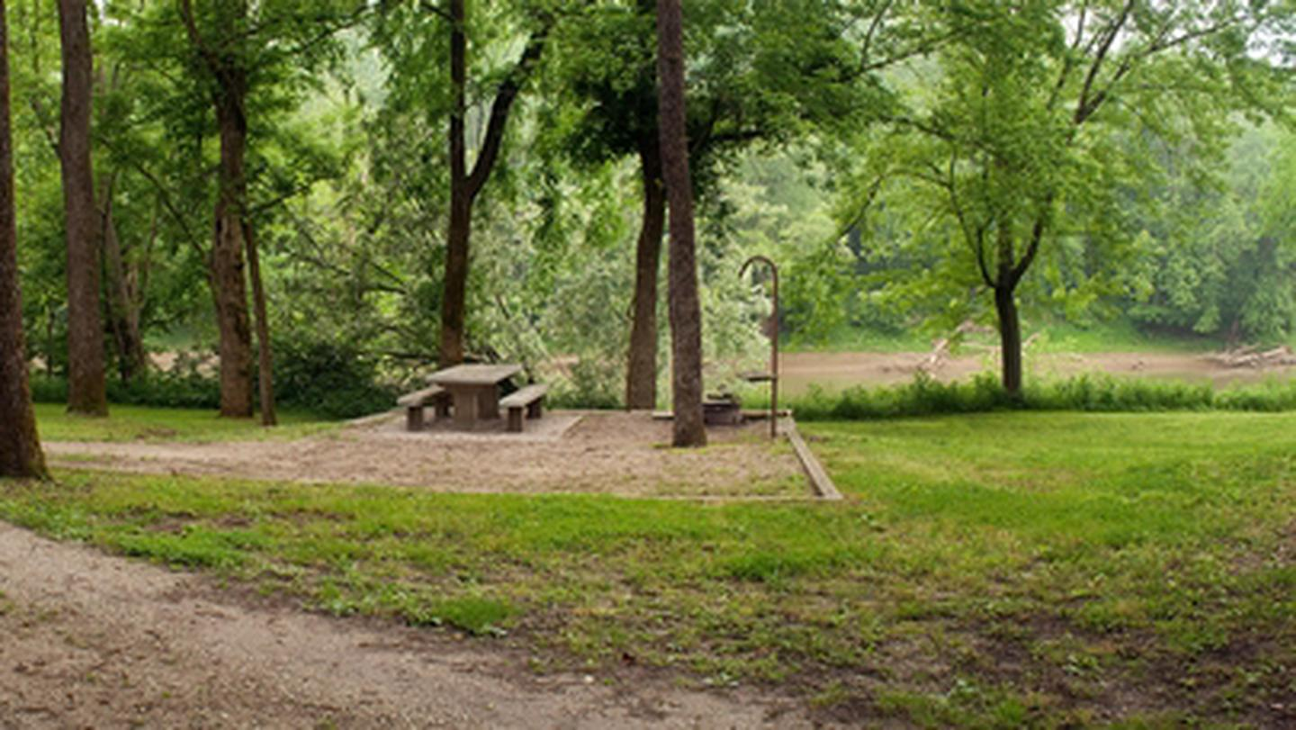 Houchin Ferry Campground - Primitive CampsitesThis campground's primitive sites feature a picnic table, fire ring, and lantern hook.
