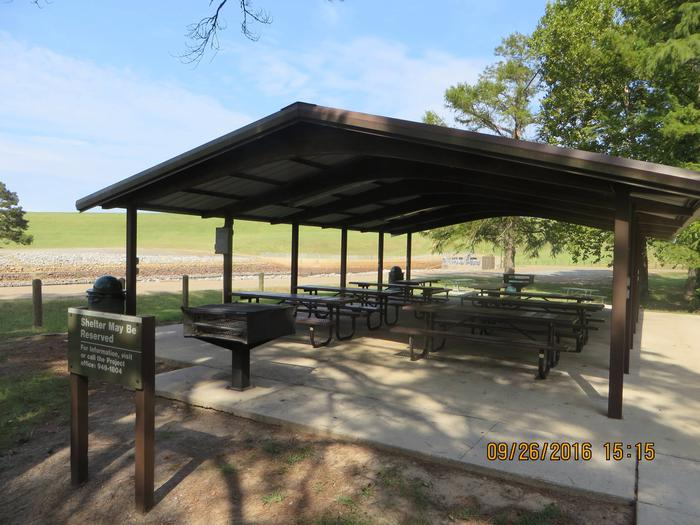 Picnic Shelter Available for Rent This picnic shelter is available in the Tom Merrill Recreation Area.  Pavilion fee is $50 a day and shelter reservations may be made by calling (318) 949-1804, or by reserving on recreation.gov. Pavilion can hold a maximum capacity of 75 people. Located within walking distance of the comfort stations and the outlet channel.