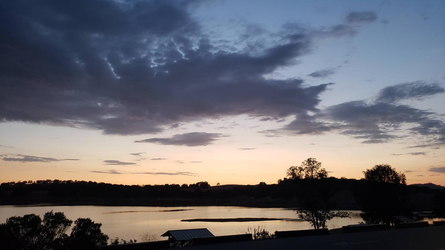 Acorn Campground has some of the best views of the lake around the project.New Hogan Lake Acorn Campground Sunrise