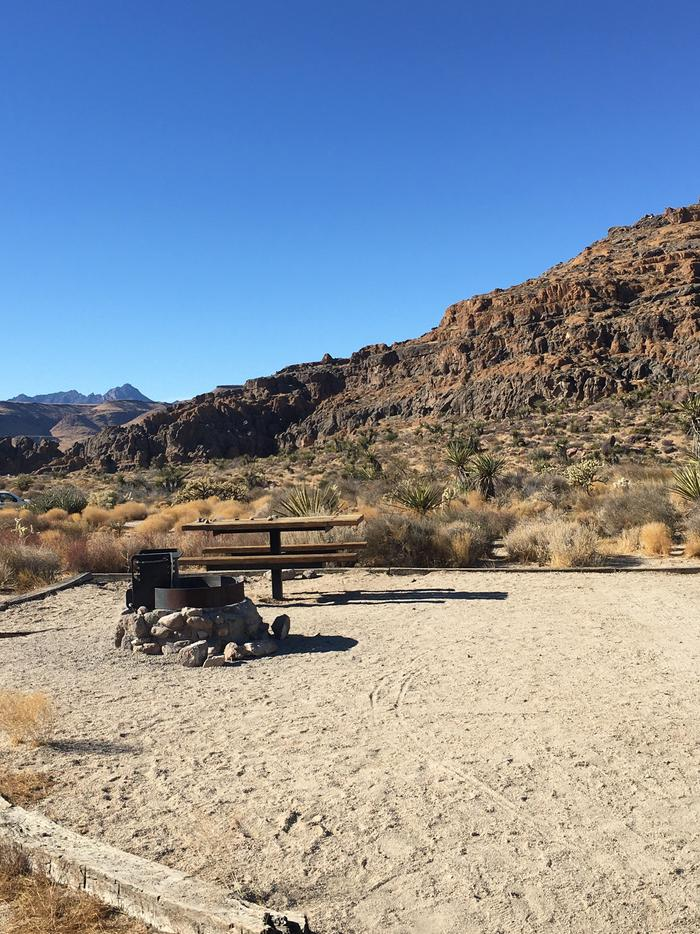 HITW CampsiteThe volcanic rock formations at Hole in the Wall are a gorgeous backdrop to the campsites