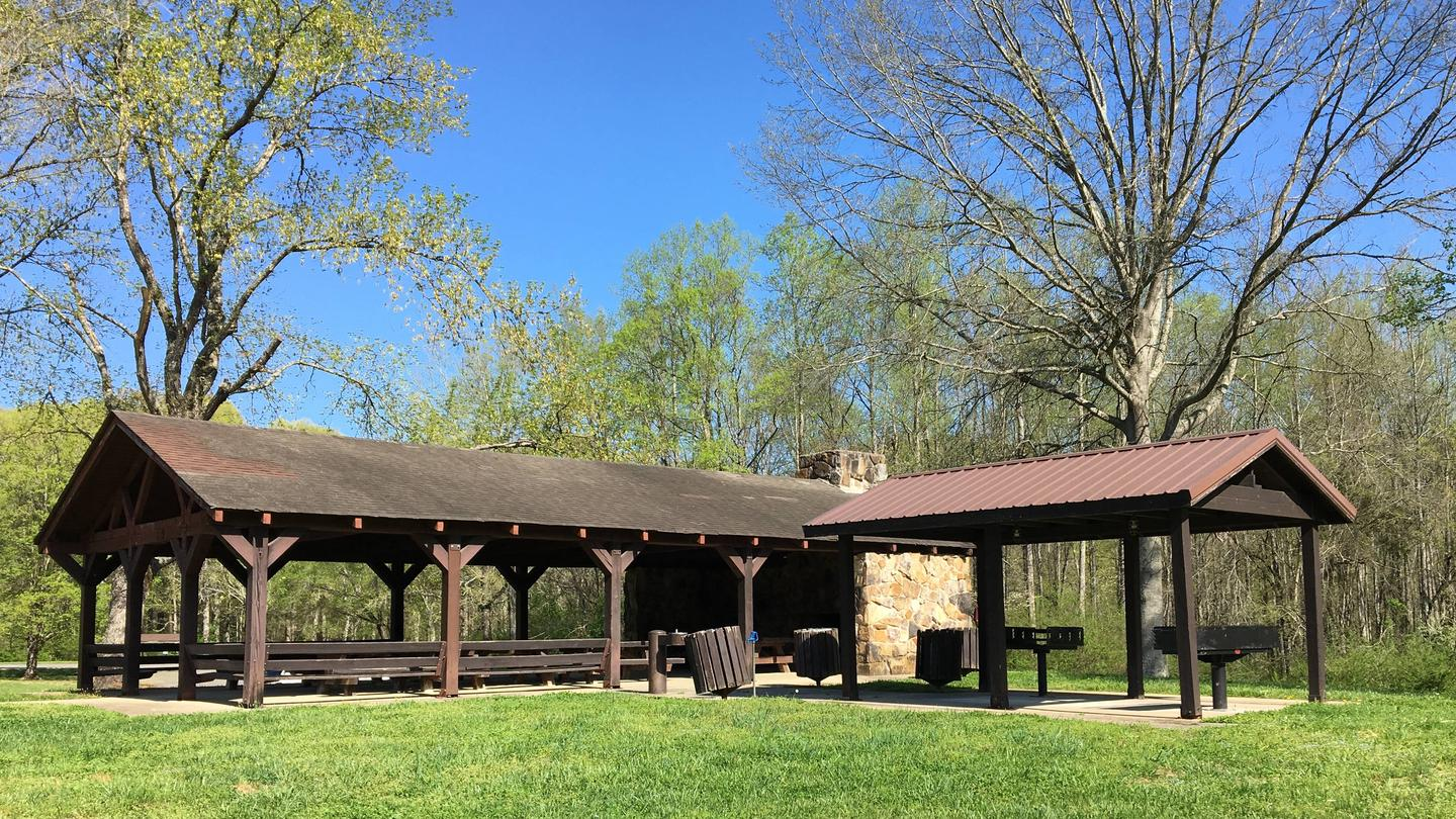DONALDSON PARK LARGE SHELTER VIEW FROM BACK PLAY FIELD