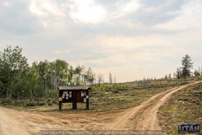 Hoop Lake Trailhead Campground fee board