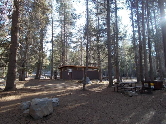Food locker, picnic table, and fire ringSite 97