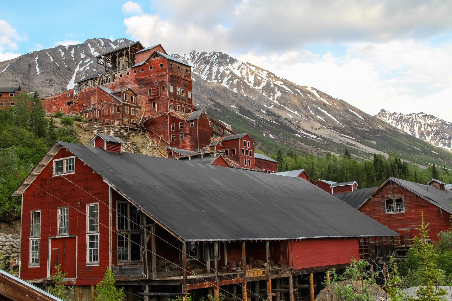 Kennecott Mill TownKennecott Mines National Historic Landmark is found within Wrangell-St. Elias National Park.  This early 1900's copper mining operation overcame numerous challenges and found success in the heart of the Alaskan wilderness.