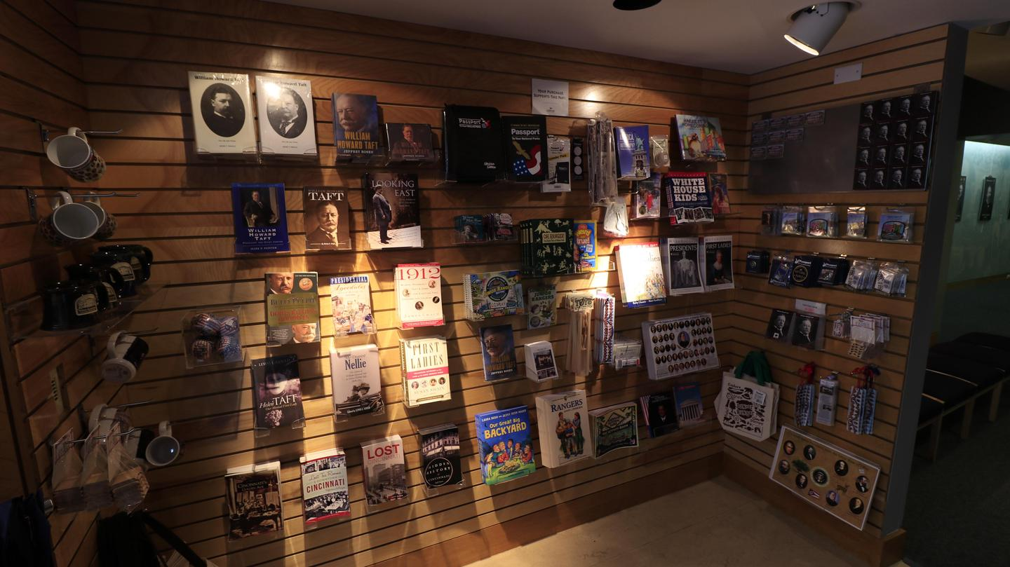 BookstoreThe small bookstore inside the Taft Education Center offers visitors a chance to purchase souvenirs while at the park