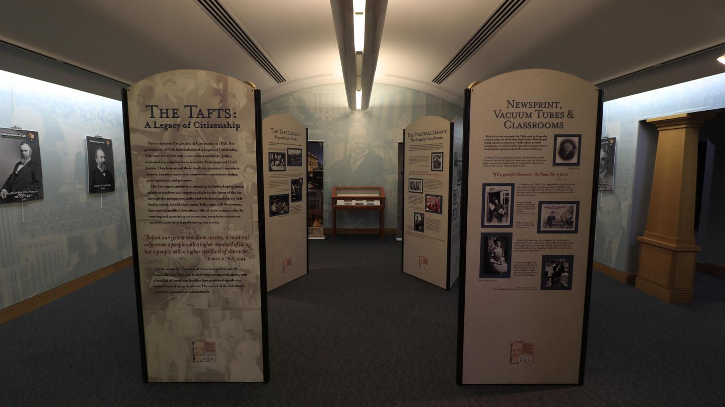Interpretive ExhibitsInterpretive displays and exhibits offers visitors a first look at the history of the Taft legacy