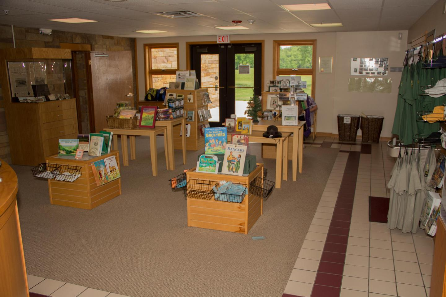 Bookstore AreaThe visitor center bookstore offers guests an opportunity to purchase souvenirs and books
