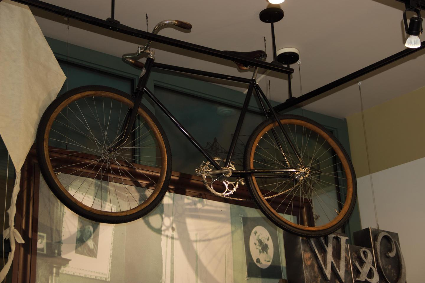 BikingA bicycle similar to the one that the Wright's build and worked on is on display in the Wright-Dunbar Interpretive Center.