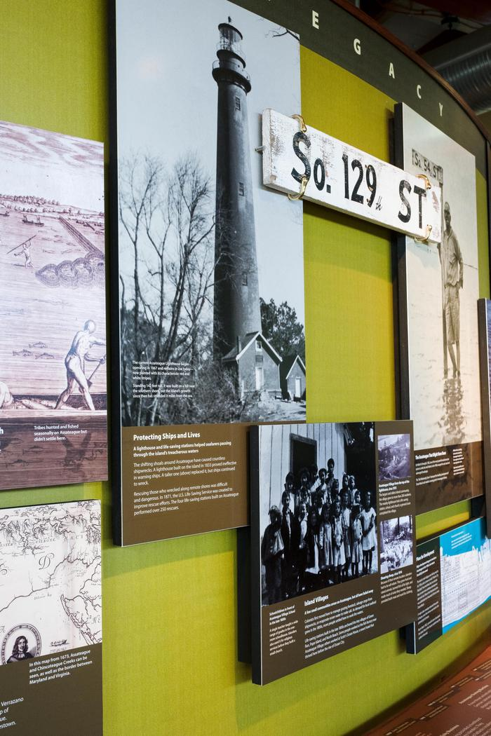 Exhibit on cultural history of Assateague Island