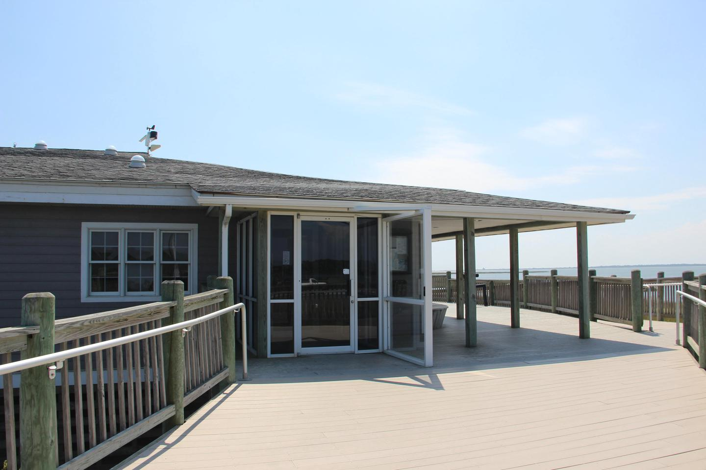 Toms Cove Visitor Center (VA) front entrance
