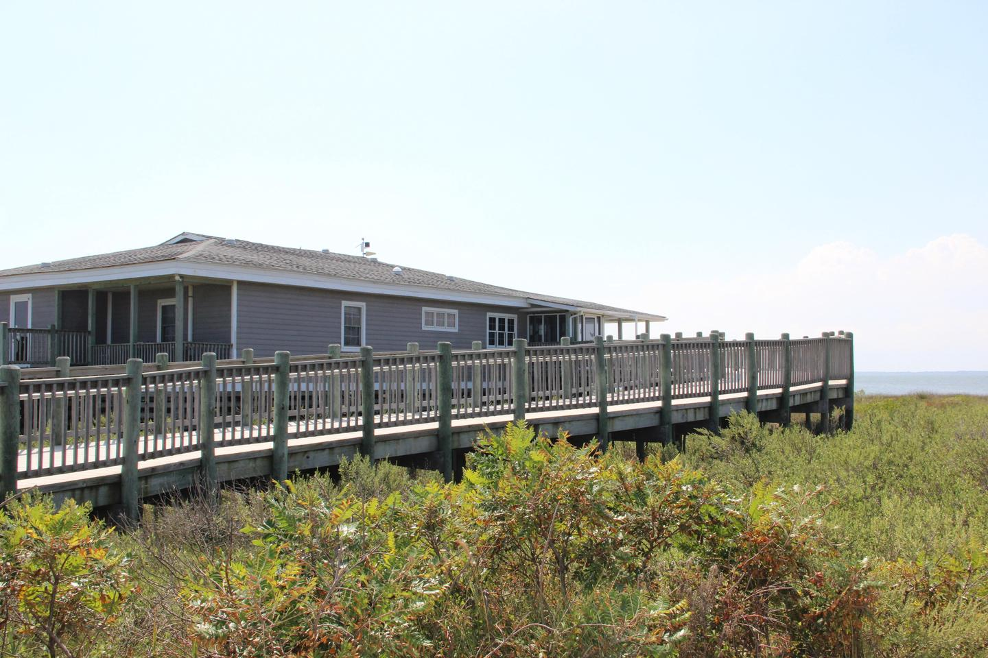 Toms Cove Visitor Center and access ramp (VA)