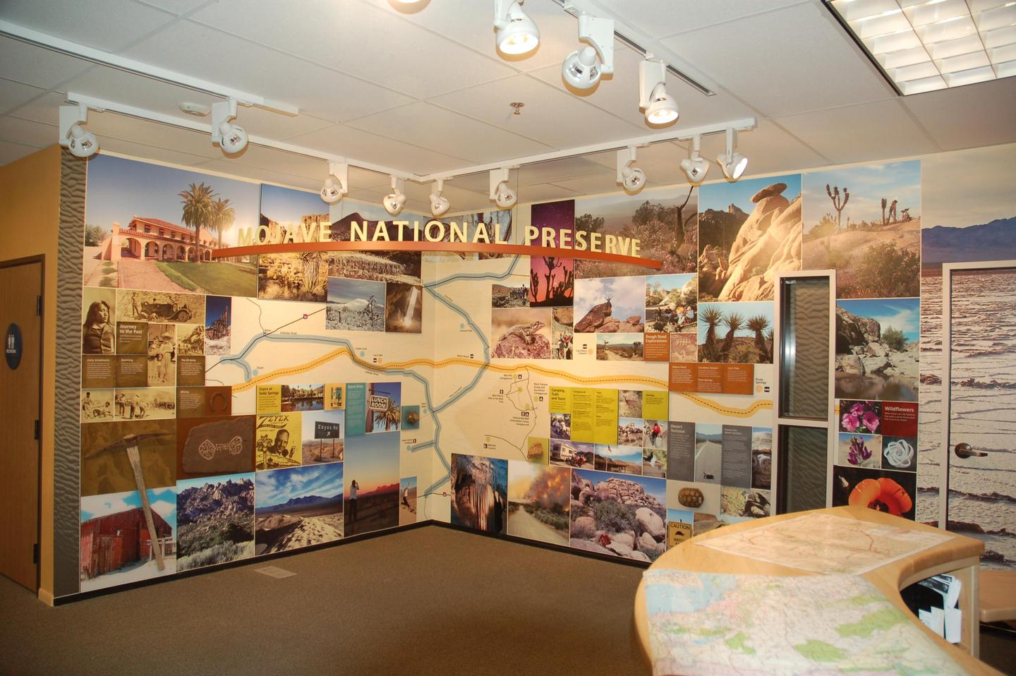 HQ exhibits insideThere are exhibits within the building to help visitors plan their trips
