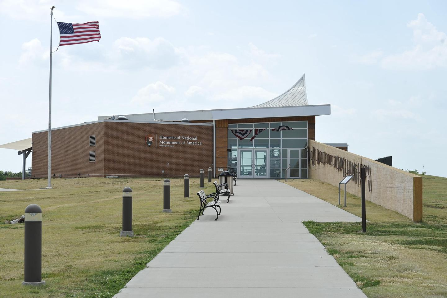 Heritage Center EntranceThe walkway to the Heritage Center includes a wall with each homestead state represented.