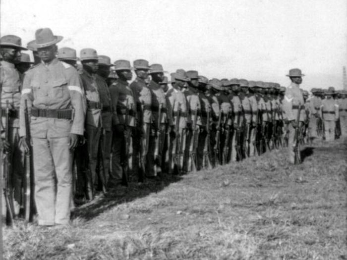 24th Infantry in PhilippineThe 24th Infantry Buffalo Soldiers while in the Philippines, c.1902