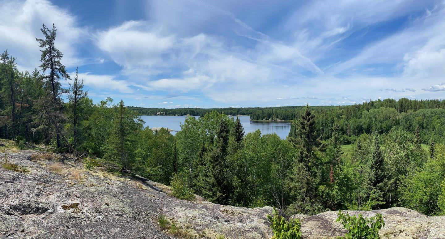 Panoramic view from Peary Lake overlookPeary Lake overlook