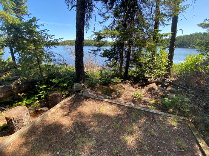 View from Peary Lake campsite tent pad