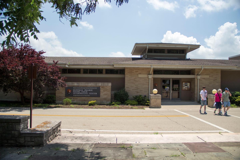 Huffman Prairie Interpretive CenterThe main entrance to the Huffman Prairie Interpretive Center