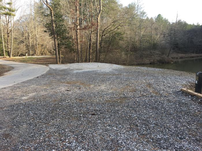 Additional gravel parking across from site