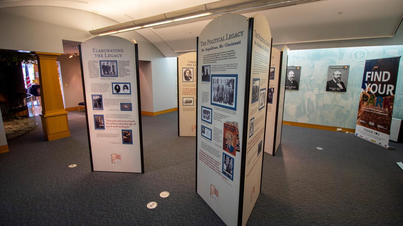 Taft Education Center interpretive displaysThe main interpretive display area inside of the Taft Education Center.