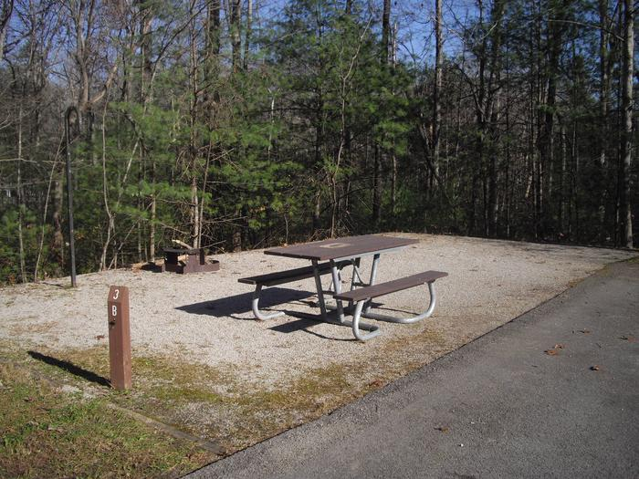 B003B003 located on a small loop with 14 sites, low traffic area, short walk to bath house.