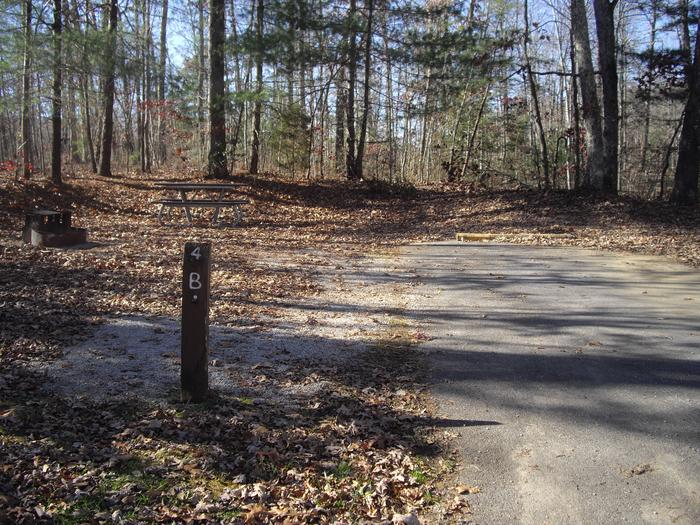 B004B004 located on a small loop with 14 sites, low traffic area, short walk to bath house.