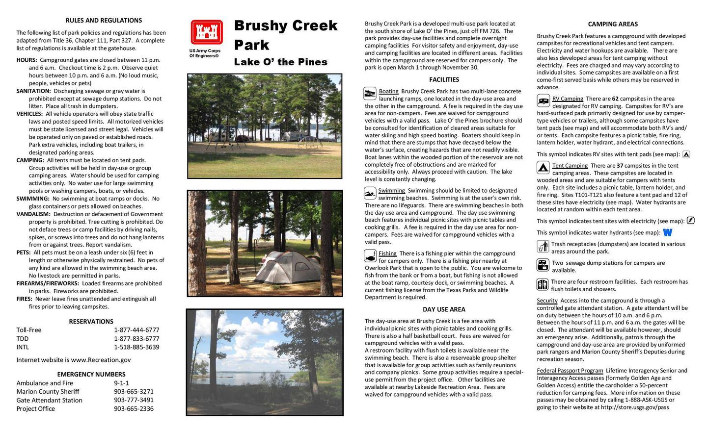 Brushy Creek Brochure Front