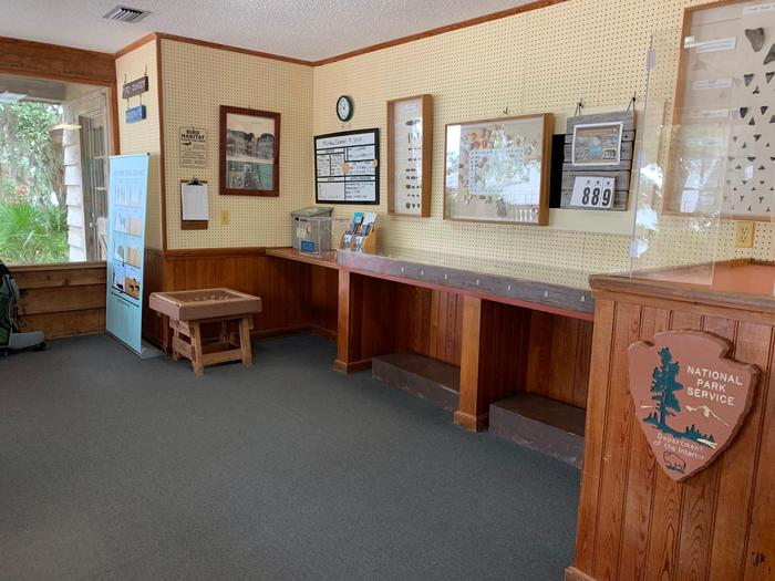 Sea Camp Ranger Station - Visitor AreaLearn about some of the interesting things you can find on the beach or find a ranger or volunteer to answer a question.