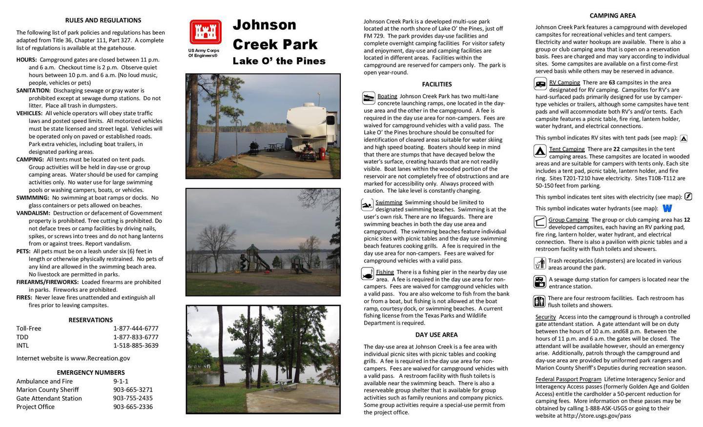 Johnson Creek Brochure FrontJohnson Creek Brochure Front
