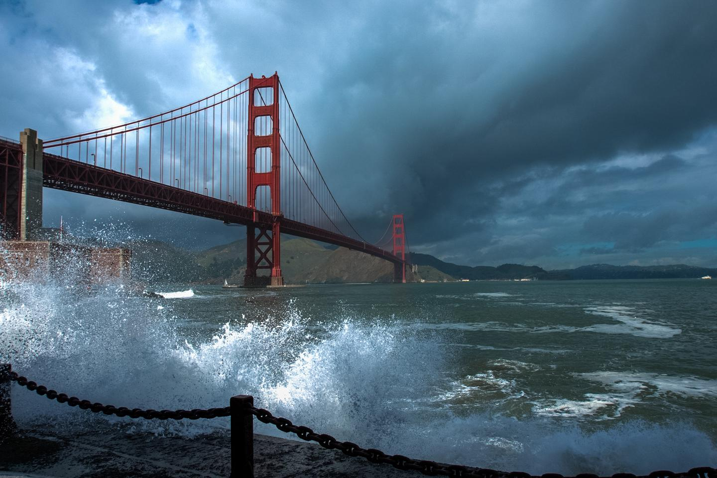 Storm over the Golden GateThe Golden Gate Bridge is an iconic attraction year-round.
