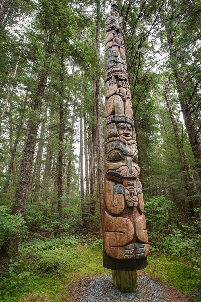 Mosquito Legend PoleSee the Park's 18 Totem Poles with a walk along the Totem Trail.