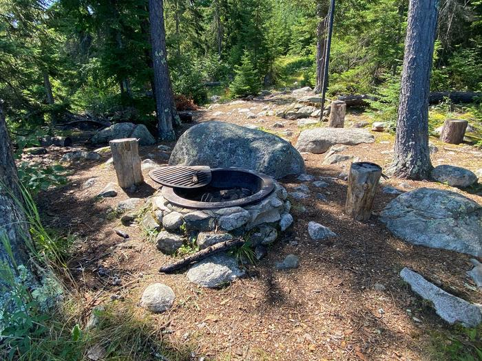 Peary Lake campsite fire ring and core area