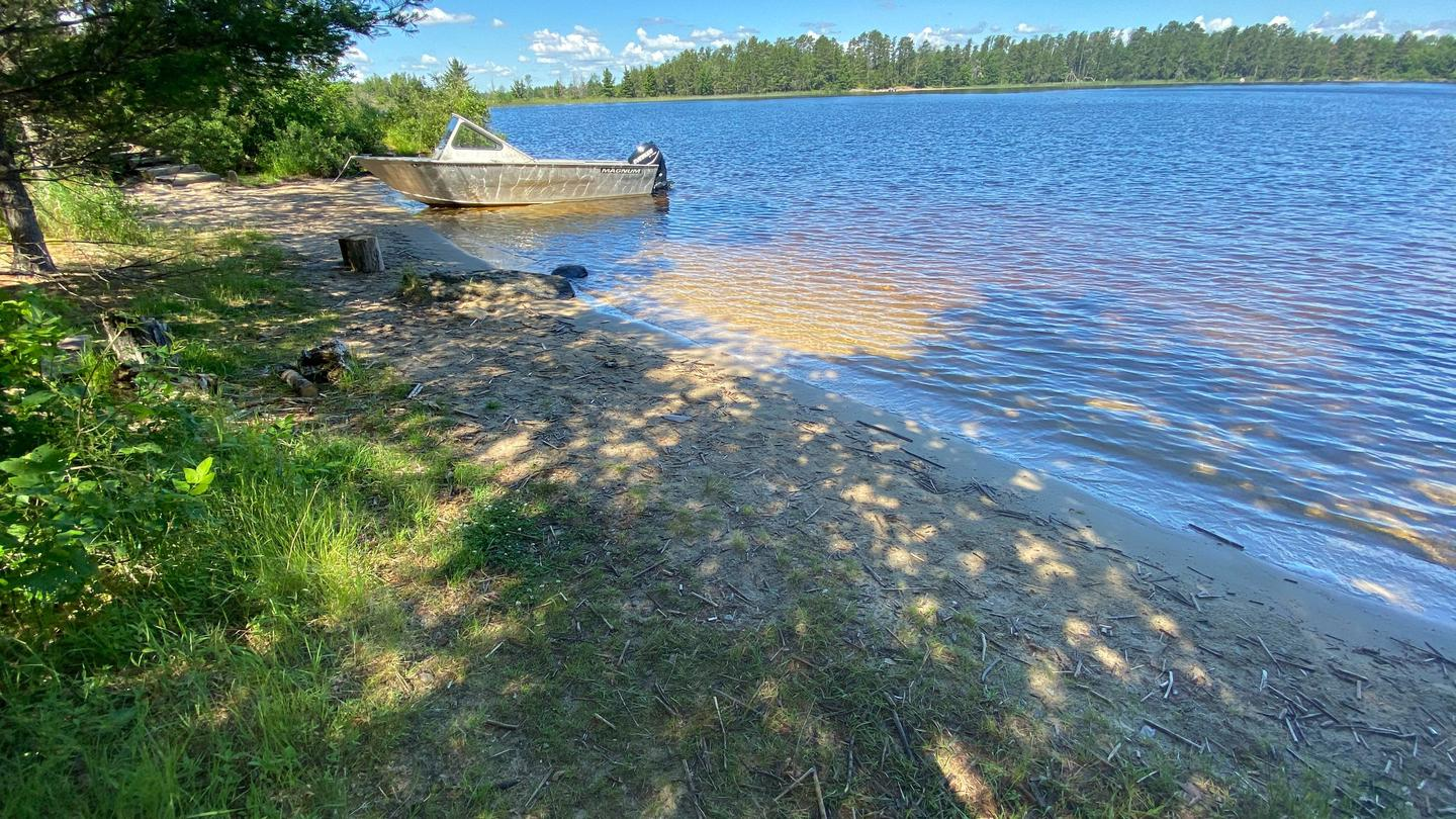 View of beach boat access