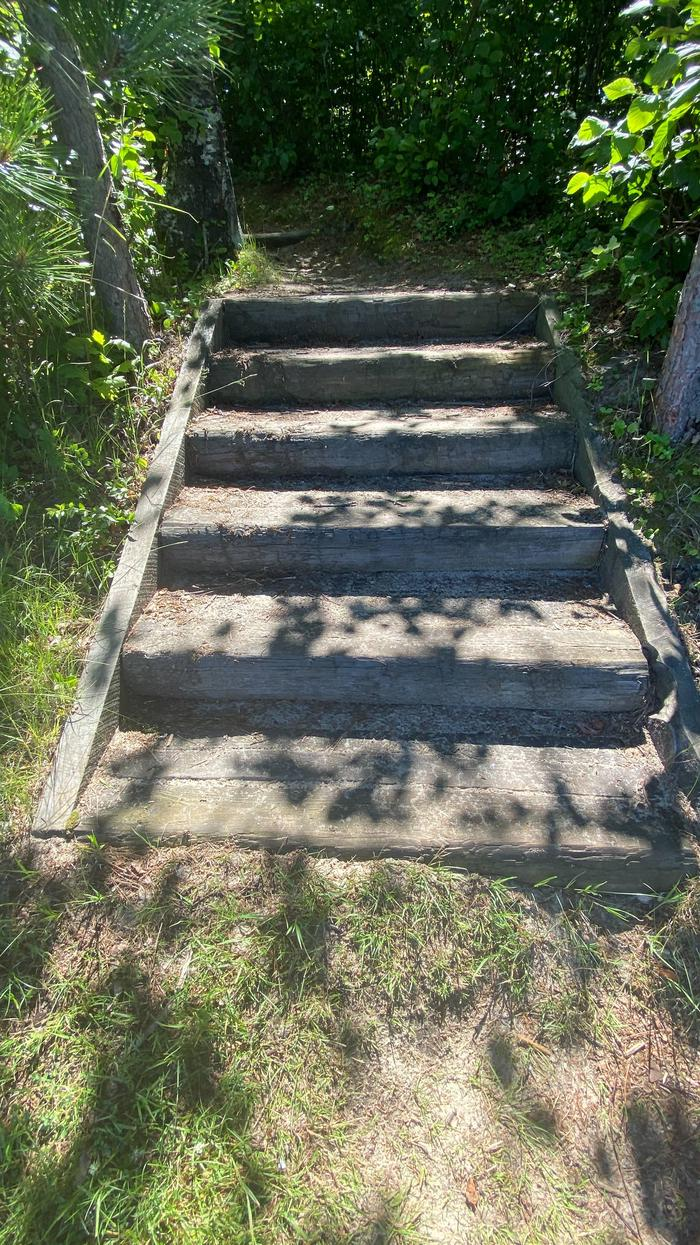 Stairs to east core area